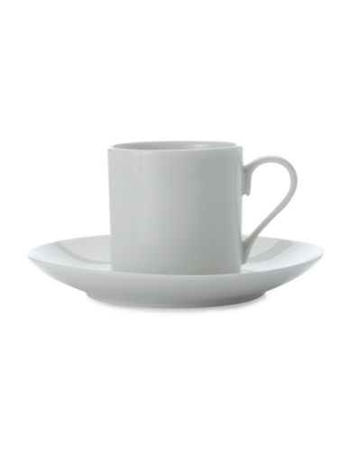 Maxwell & Williams Six-Piece Straight Demi Tasse Cup and Saucer Set-WHITE-One Size 83588176_WHITE_One Size