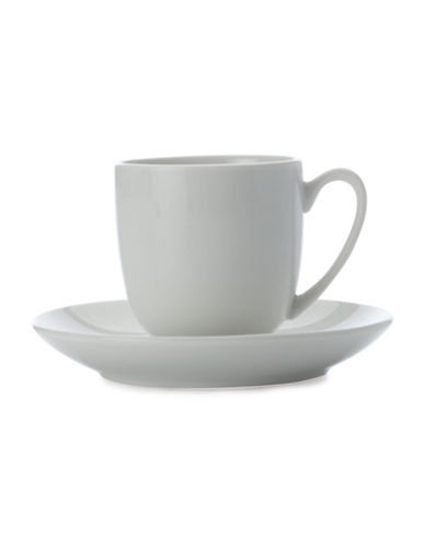 Maxwell & Williams White Basics Six-Piece Porcelain Round Demi Tasee Cup and Saucer Set 89021568