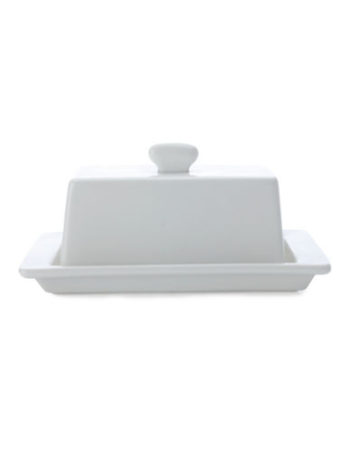 Maxwell & Williams Basics Covered Square Butter Dish-WHITE-One Size