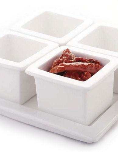 Maxwell & Williams White Basics 5 Piece Condiment Set-WHITE-One Size