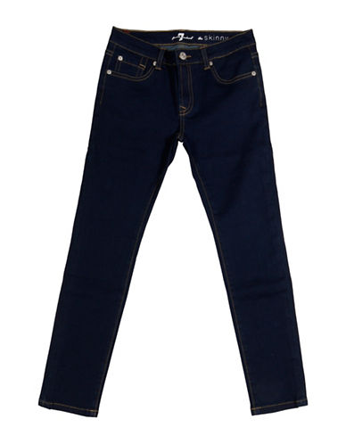 7 For All Mankind Skinny Five-Pocket Jeans-INDIGO-8