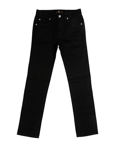 7 For All Mankind Solid Slimmy Jeans-BLACK OUT-8