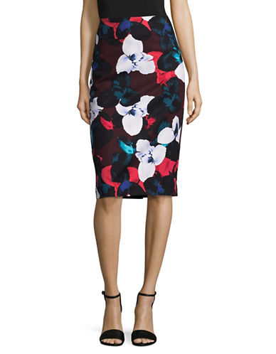 Lord & Taylor Floral Pencil Skirt-BEGONIA-12