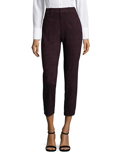 Lord & Taylor Plus Printed Ankle Pants-BEGONIA-14W