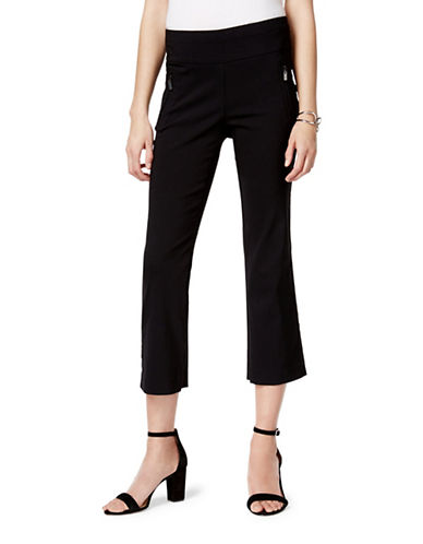 I.N.C International Concepts Straight-Leg Cropped Pants-BLACK-6