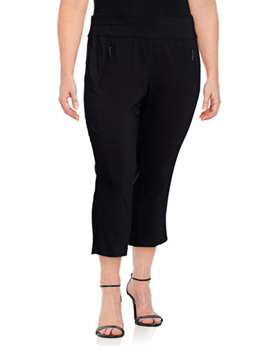 I.N.C International Concepts Plus Pull-On Crop Pants-BLACK-22W