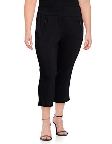 I.N.C International Concepts Plus Pull-On Crop Pants-BLACK-18W