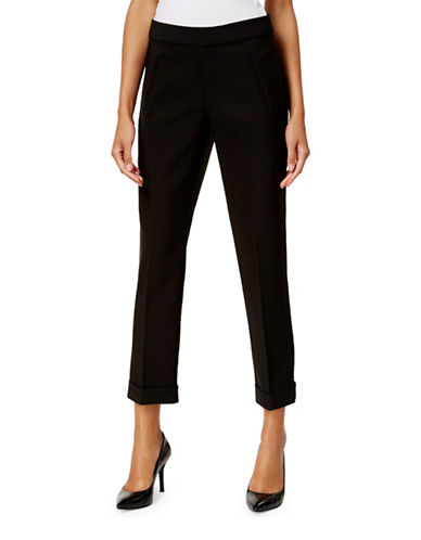 I.N.C International Concepts Cropped Trousers-DEEP BLACK-6