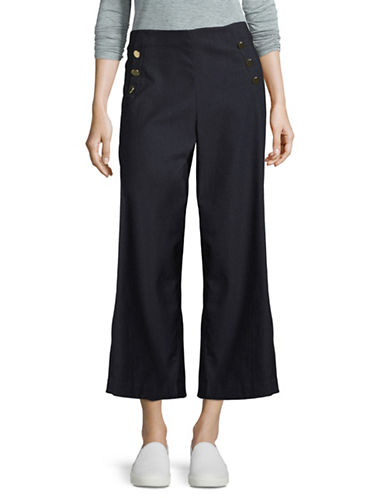 I.N.C International Concepts Wide-Leg Trousers-BLUE-6