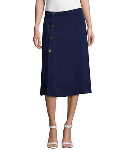 Lord & Taylor Chic Midi Skirt-NAVY NIGHT-10