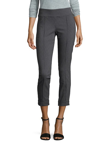 Lord & Taylor Petite Solar Kelly Pull-On Pants-BLACK-Petite 8