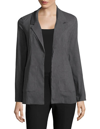 Lord & Taylor Casual Blazer-BLACK-X-Small