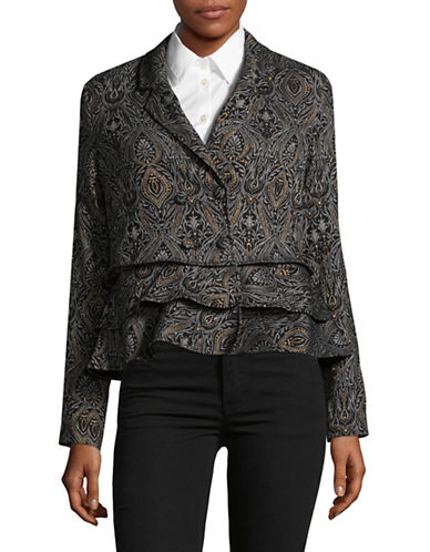 Lord & Taylor Paisley Jacket-BLACK-8