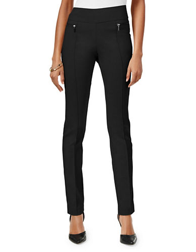 Style And Co. Petite Mid-Rise Skinny Pants-BLACK-Petite Large