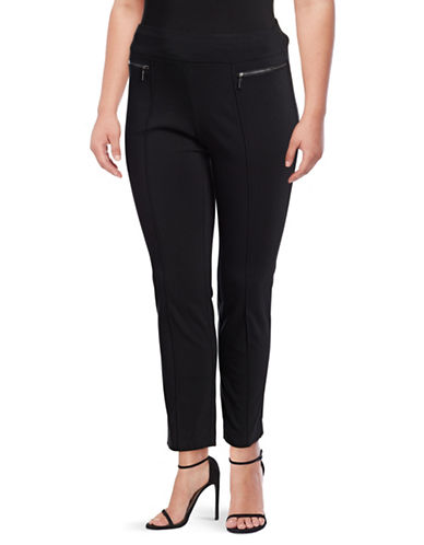 Style And Co. Plus Skinny Leg Comfort Waist Pant-BLACK-20W