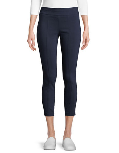 Style And Co. Petite Classic Pull-On Pants-BLUE-Petite Large