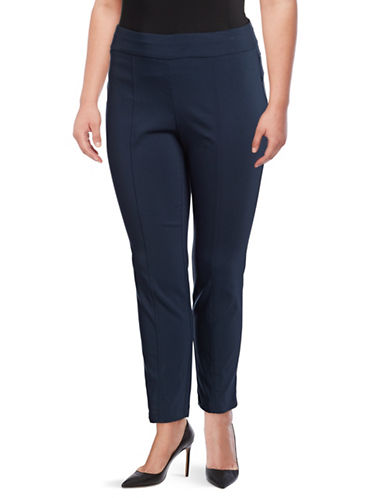 Style And Co. Plus Plus Ultra Skinny Pull-On Pants-NAVY-16W