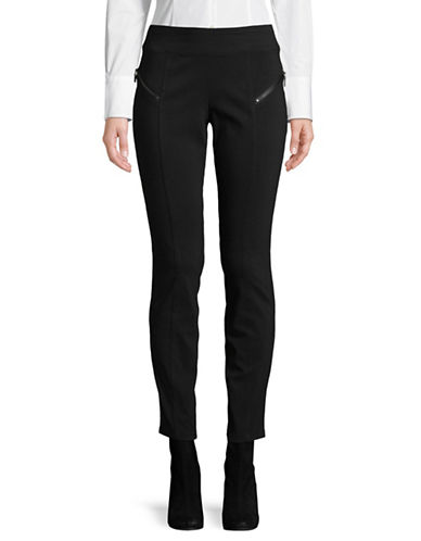 I.N.C International Concepts Skinny Moto Zip Pants-BLACK-14