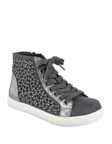 Mia Playground High Top Sneakers-GREY-1