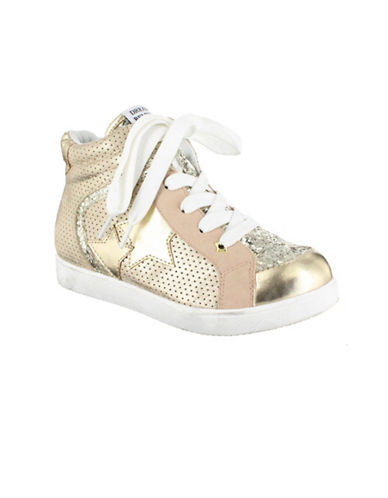 Mia Radiant Star Patch High-Top Sneakers-GOLD-13