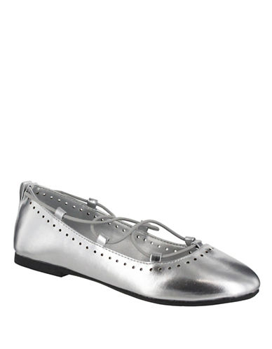 Mia Paperdoll Ballet Flats-SILVER-2