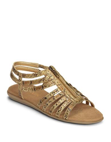 Aerosoles Chlothesline Sandal-GOLD-5