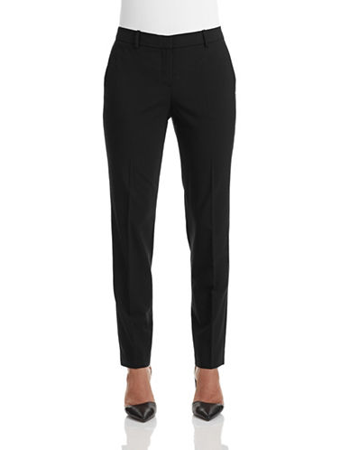 Theory Testra Stretch Wool-Blend Pants-BLACK-2