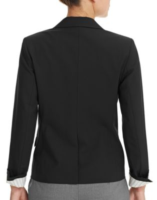 THEORY 'Wylla' Button Lapel Virgin Wool Blazer