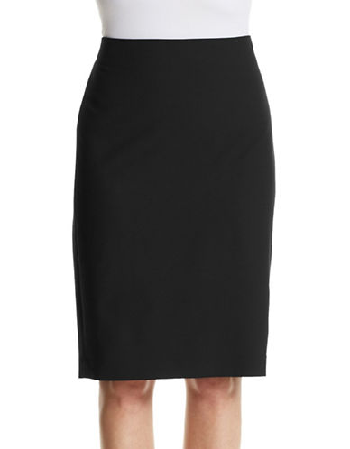 Theory Pencil Virgin Wool Skirt-BLACK-2