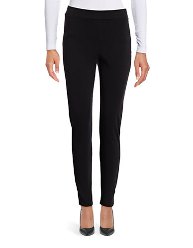 Theory Shawn C Fixture Ponte Leggings-BLACK-Large