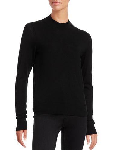Theory Wool Mock Neck Sweater-BLACK-X-Small 88696242_BLACK_X-Small