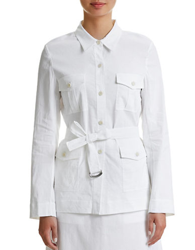 Theory Lorem Linen-Blend Belted Jacket-WHITE-Small 87574278_WHITE_Small