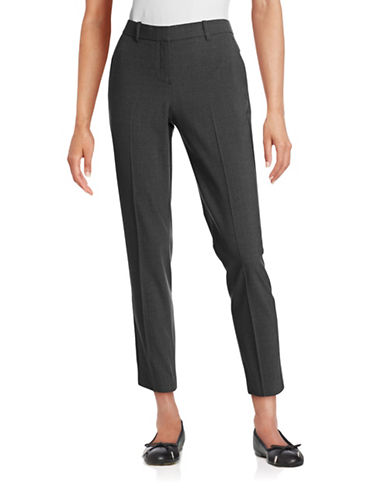 Theory Testra Stretch Wool-Blend Pants-CHARCOAL-4