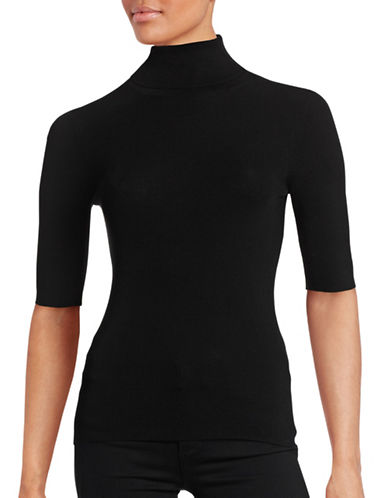 Theory Leenda B Merino Wool Turtleneck-BLACK-Medium