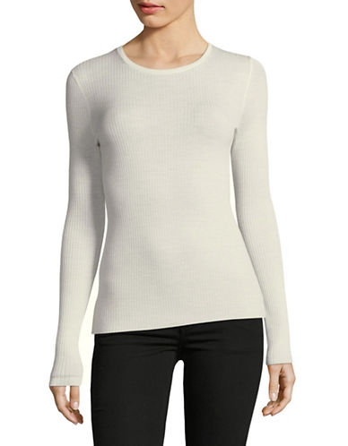 Theory Super Lightweight Wool Sweater-IVORY-X-Small