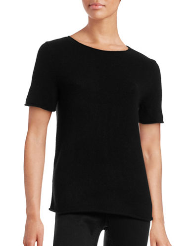 Theory Tolleree Cashmere Sweater Tee-BLACK-Small