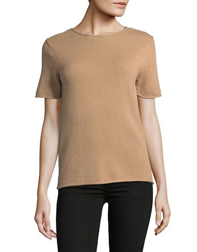 Theory Tolleree Cashmere Sweater Tee-CAMEL-X-Small