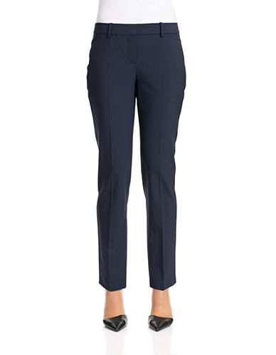Theory Testra Stretch Wool-Blend Pants-NAVY-0