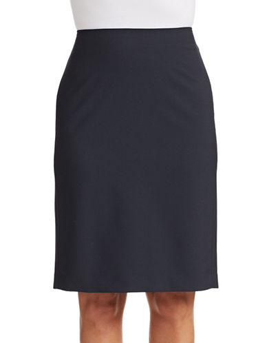 Theory Pencil Virgin Wool Skirt-DEEP NAVY-2