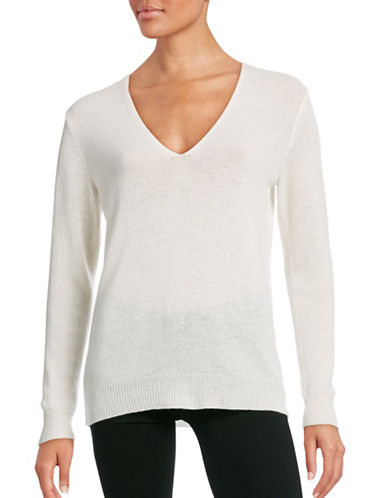 Theory Long Sleeve Cashmere Sweater-IVORY-X-Small