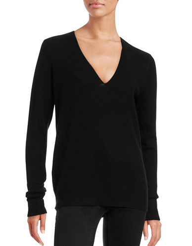 Theory Long Sleeve Cashmere Sweater-BLACK-Large