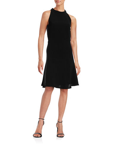 Theory Cosgrove Admiral Fit-And-Flare Dress-BLACK-12
