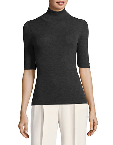 Theory Lightweight Wool Turtleneck-GREY-Large