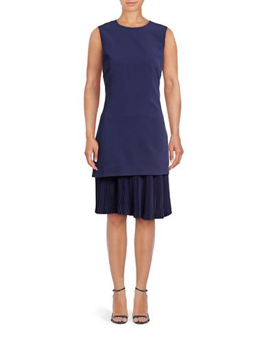 Theory Malkan Pleated Shift Dress-BLUE-2