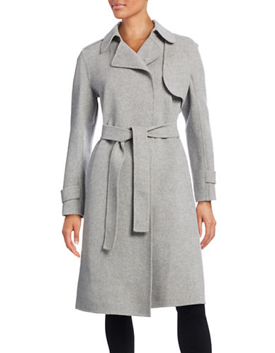 49c6a93f439 UPC 887717996105 product image for Theory Wool-Cashmere Belted Trench Coat-GREY-Small  ...