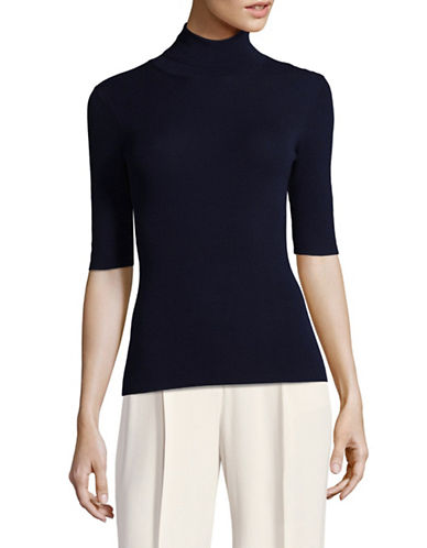 Theory Lightweight Wool Turtleneck-BLUE-Medium
