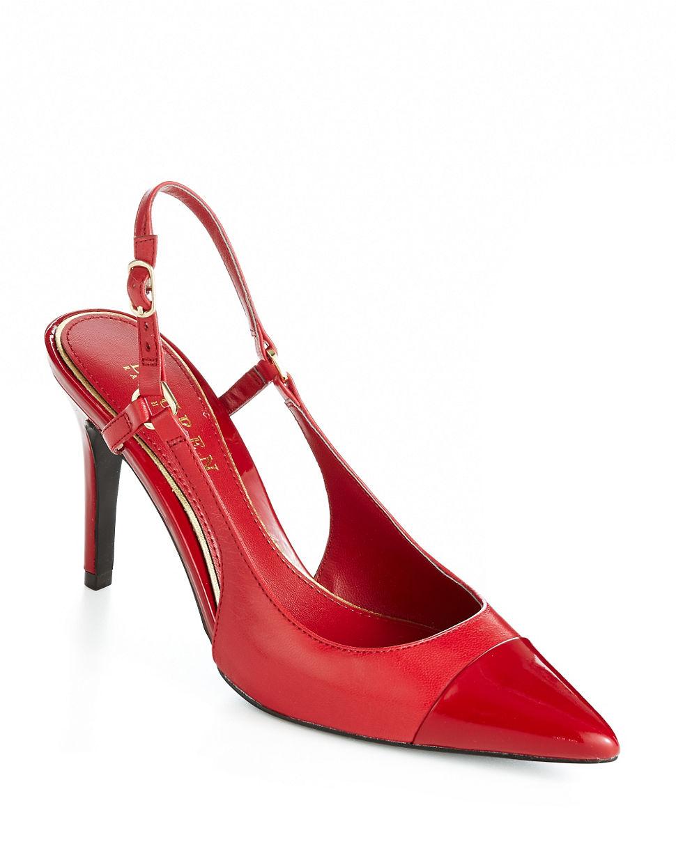 LAUREN RALPH LAUREN Aaliyah Slingback Pump bright red Size 9