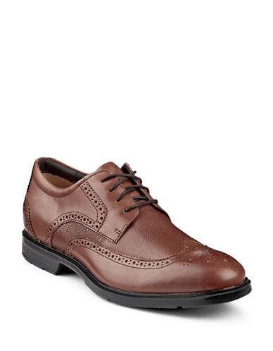 Rockport Perforated Dress Shoes-TAN-10.5W