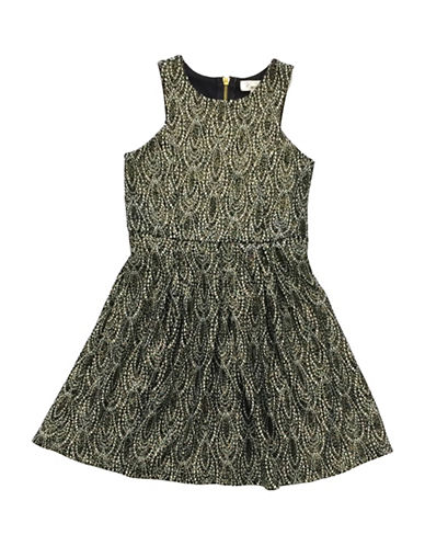 Emerald Sundae Sleeveless Skater Dress-BLACK-16