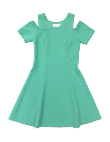 Emerald Sundae Cold Shoulder Dress-MINT-10